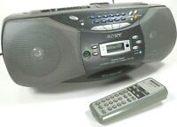 Sony ( CFD-S36 ) STEREO Boombox (CD & Cassette player &  Digital AM/FM & Remote)