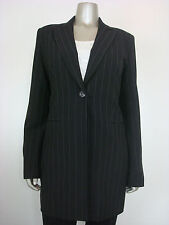 SINEQUANONE PARIS Pinstriped Single Breasted Blazer Black T42 8 MDFE