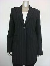 SINEQUANONE PARIS Pinstriped Single Breasted Blazer Black T42 8 MDFE
