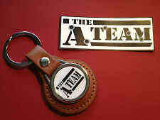 THE A TEAM LEATHER KEY RING & STICKER SET