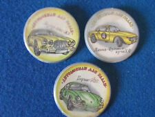 Russian Badges - Lot of 3 - Motor Cars - Large Button Style