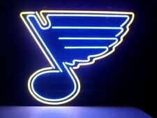 "St. Louis Blues Neon Lamp Sign 20""x16"" Bar Light Beer Glass Windows Display"