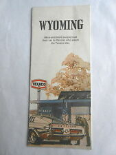 Cool Vintage 1973 Texaco Gas Oil Service Station Wyoming State Tourist Road Map