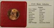 1980 FAO Money Collection Turkey 10 Kurus Coin Anatolian Bride