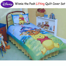 2 Pce - Disney Licensed Winnie The Pooh Lifting SINGLE Quilt Duvet Cover Set