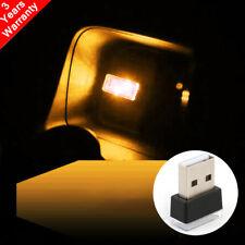 Mini USB Orrange LED Light Car Interior Light Neon Atmosphere Ambient Lamp 1PCS