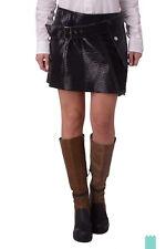 RRP €650 DIESEL BLACK GOLD Size 38 / XS OLIGO Embossed 100% Leather Wrap Skirt