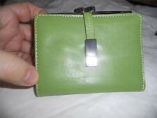 Mundi Key Lime Green Genuine Leather French Purse Wallet
