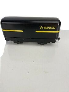 Custom Marx O Gauge Virginian Black Coal Tender Tin Litho Train Car