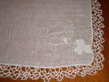 Vintage Crocheted Madeira Wedding Hanky Handkerchief Ha