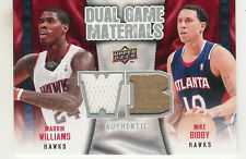 2009-10 UPPER DECK MARVIN WILLIAMS MIKE BIBBY DUAL GAME JERSEY ATLANTA HAWKS