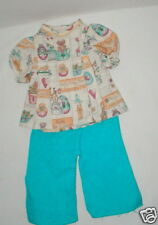 """Home made top & pants for 14""""-18"""" doll Vgc"""