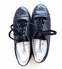CHANEL Damen Sneakers Schuhe Shoes Halbschuhe Lack Echt Leder Size 39