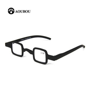 Mens Womens Vintage Small Square Reading Glasses Readers 1.50 2.00 2.50