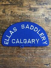 """Vtg Ross Ellas Saddlery Calgary 3"""" Sew On Embroidered Patch Badge AB Equestrian"""