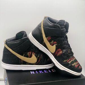 "Nike Dunk High Zoom CMFT Premium "" Tiger Camo "" Size UK 9 Jordan / Air Force"