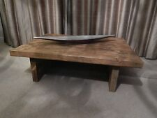 Reclaimed Style Chunky Solid Pine HANDMADE COFFEE TABLE