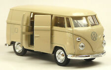 VW 1963 T1 Bus WELLY Rückzug Ca. 11cm Flower Modellauto Metall Bulli