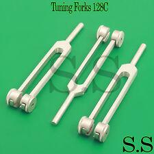 3 Pcs Medical Diagnostic Tuning Forks 128C Tunning Tuner Tone Orthopaedic Tools
