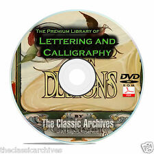 Lettering Calligraphy Library, Monograms Ciphers Sign Writing 164 Books DVD B69
