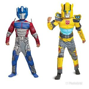 Boys Transformers Optimus/Bumblebee Costume w/Mask by Disguise Sizes S/M/L NEW