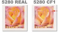5280 & 5280(CF1) Real & Counterfeit Set of 2 Peace Rose Forever MNH - Buy Now