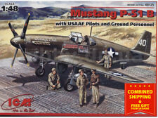 ICM 48125 - 1/48 P-51B With USAAF pilots and ground personnel, plastic model kit