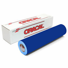 ORACAL 651 Outdoor Permanent Vinyl - BLUE 12in x 10ft Roll