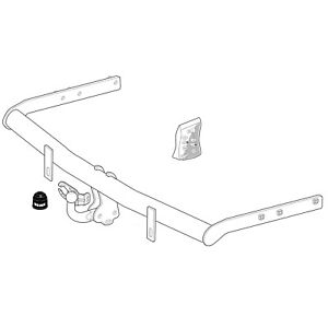 Brink Towbar for Ford Galaxy MPV 2000-2006 - Swan Neck Tow Bar