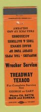 Matchbook Cover - Treadway Texaco oil gas