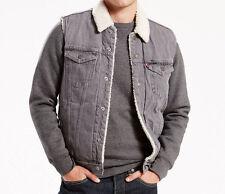 Levis Sherpa Trucker Vest Grey Size SMALL Sherpa Lined Levi Strauss MSRP $89.50