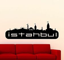 Istanbul Logo Wall Decal Word Turkish City Vinyl Sticker Art Mural (272xx)