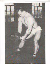 Vintage John Grimek Mr America Bodybuilding LOST YORK P.A. Muscle Photo B+W