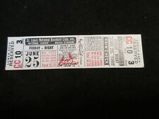 Full Ticket June 25,1965 St Louis Cardinals vs Chicago Cubs Brock Banks Baseball