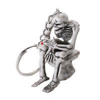2Pcs Key Chains Cool Skull Practical Skeleton Creative Keyring Keychain for Man