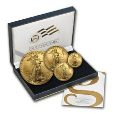 2007-W 4-Coin Burnished Gold American Eagle Set (w/Box & COA) - SKU #32038
