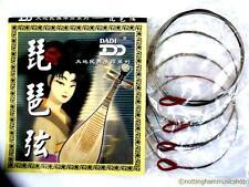 Chinese Lute PIPA Set di 4 qualità dell'acciaio Flat Wound Corde strumenti 琵琶