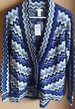"""NWT Chico's """"Zippy Zig Zag"""" Chevron Cardigan - Size 2 - Wool Mohair Blend - $109"""