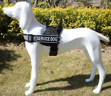 REFLECTIVE Service Dog Vest w/ Handle Harness 2 patches IN TRAINING THERAPY DOG