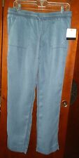 NWT Calvin Klein Jeans Casual Denim Blue Pull-on Tie  Lyocell S 6