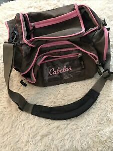 Cabela's Catch All Gear Bag Pink Camo Hunting Fishing Sports Gym Luggage