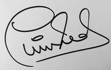 Phil Neal HAND SIGNED White Card Liverpool Euro Legend *In Person* COA