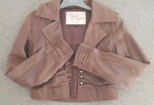 chilli pepper london ladies brown leather jacket size10