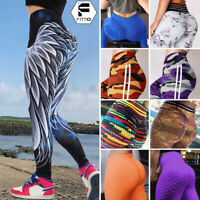 Womens High Waist Yoga Leggings Stretch Anti-Cellulite Sports Pants Trousers USA
