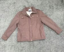 New listing Toggi Mayfair Brown Equestrian Quilted Snap Women's Jacket Size 14 Chest 42 in