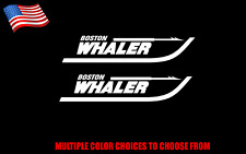 """Boston Whaler Boat Decal Sticker 2X 12"""" Stickers (Choose a Color)"""