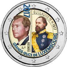 Luxemburg 2 Euro Großherzogs Wilhelm III Gedenkmünze 2017 bankfrisch in Farbe