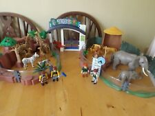 PLAYMOBIL LARGE ZOO SET 4850 WITH LIONS ELEPHANTS GIRAFFES ZEBRAS ETC
