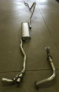 1952-1953 OLDSMOBILE 98 SINGLE EXHAUST SYSTEM, ALUMINIZED WITHOUT POWER STEERING