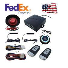 Car Alarm System PKE Passive Keyless Entry Engine Start Push Button Remote Set